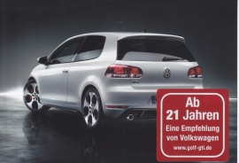 Golf GTI, A6-size postcard, German, 2012