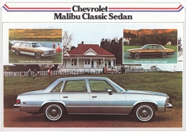 Malibu Classic 3 models 1979, 2 pages, export, Dutch language