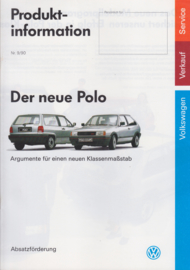 Polo Produkt Information Internal brochure, A4-size, 32 pages, German language, 07/90