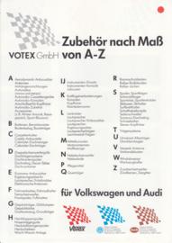 Audi & Volkswagen Votex accessories folder, 4 pages, 9/1984, German language