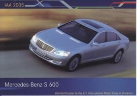 Mercedes-Benz S 600, A6-size postcard, IAA 2005