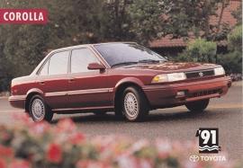 Corolla Sedan, US postcard, 1991, # 31048-91