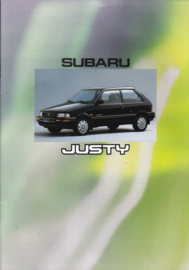 Justy brochure, 16 pages, Dutch language, about 1990