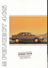 405 Sedan brochure, 36 pages, A4-size, 1991, German language