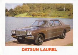 Laurel Sedan brochure, 12 pages, Dutch language, 01/1978