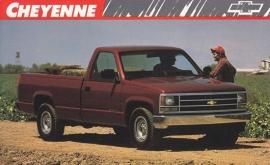 Cheyenne Pickup,  US postcard, large size, 19 x 11,75 cm, 1989