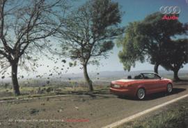 S4 Cabriolet V8 quattro postcard, A6-size, Promocard, Italian language, # 4264