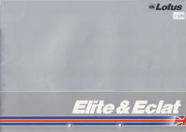 Elite 2.2 & Eclat 2.2 brochure, 10 pages, DIN A4-size, factory-issued, 1982, English language