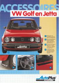 Golf & Jetta accessories (Zubehör) brochure, 6 pages,  A4-size, Dutch language, 1987 (includes pricelist)