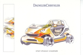 Smart Crossblade show car, A6-size postcard, Geneva 2001