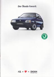 Favorit brochure + specs., 18 + 4 pages, German language, 1989