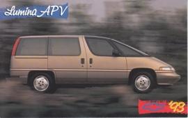 Lumina APV, US postcard, standard size, 1993