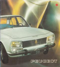 504 Sedan brochure, 16 pages, Dutch language, 1975