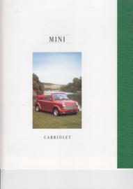 Mini Cabriolet 1300 brochure, 8 pages, German language, 2/1995, # EO1155