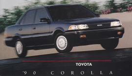 Corolla Sedan, US postcard, 1990