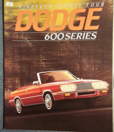 600 Series brochure, 22 large pages, 1984, English language, USA
