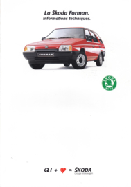 Forman Stationwagon specifications brochure, 4 pages, French language, 1989