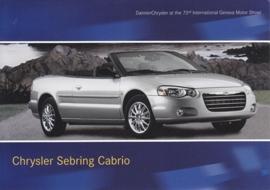 Chrysler Sebring Cabrio, A6-size postcard, Geneva 2003