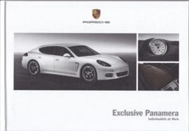 Panamera Exclusive brochure, 60 pages, 01/2014, hard covers, German
