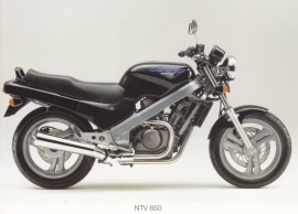 Honda NTV 650 postcard, 18 x 13 cm, no text on reverse, about 1994