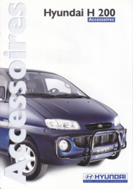 H200 Van accessories brochure, 6 pages, about 1998, Dutch language