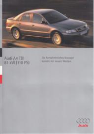 A4 TDI brochure, 6 pages, 08/1995, German language