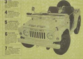 LJ 80/80V 4x4  newspapertype brochure, 8 pages, about 1980, Dutch language, Belgium
