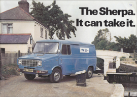 Sherpa Vans & Pickups brochure, 16 pages, English language, 11/1976