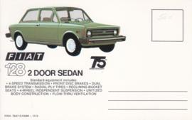 128 2-door Sedan, standard size, US postcard (# 7547)