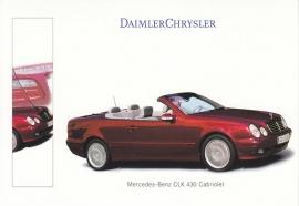 Mercedes-Benz CLK 430 Cabriolet, A6-size postcard, IAA 1999, German