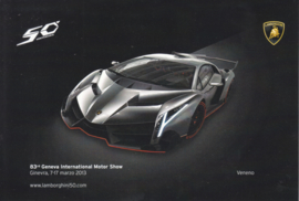 Lamborghini Veneno, advertising postcard, factory-issued, 03/2013
