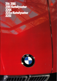 316/318i/320i/325e/325i brochure, 34 pages, A4-size, 2/1985, German language