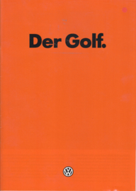 Golf brochure, 32 pages,  A4-size, German language, 08/1981