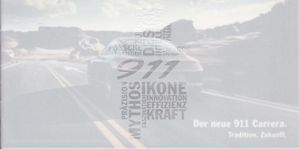 911 Carrera new model (991 II) brochure, 12 small pages, 2015, German