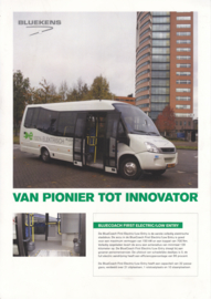BlueCoach First Electric/Low Entry leaflet, 2 pages, A4-size, about 2020, Dutch
