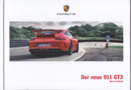 911 GT3 brochure, 124 pages, 03/2017, hard covers, German