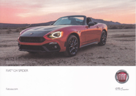 124 Spider, US-issued  picture card, size 17,5 x 12,5 cm, 2016