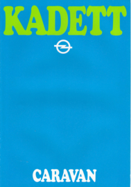 Kadett Caravan brochure, 6 pages, 08/1979, German language