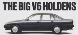 V6 Holden Saloon models fold-out brochure, 12 pages, 9/1988, English language