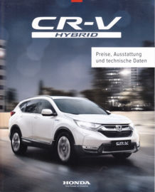 CR-V Hybrid prices brochure, 12 pages, 21x26 cm, German, 04/2019
