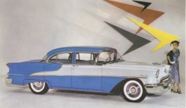 Ninety Eight 4-Door Sedan, US postcard, standard size, 1955, DS-427F