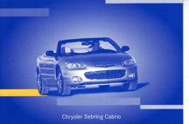 Chrysler Sebring Cabrio, A6-size postcard, IAA 2001