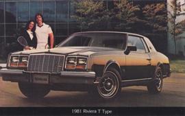 Riviera T Type, US postcard, standard size, 1981