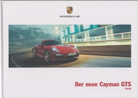 Cayman GTS brochure, 44 pages, 03/2014, hard covers, German