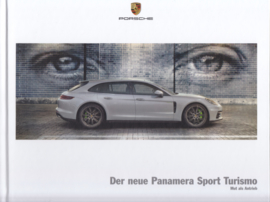 Panamera Sport Turismo brochure, 40 large pages, A4-size, 03/2017, hard covers, German language