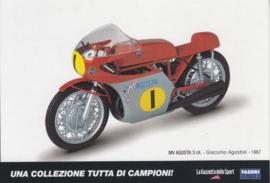 MV Agusta 1967, Italian Promocard, DIN A6-size, # 5478