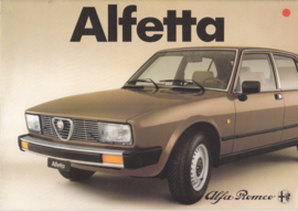 Alfetta brochure, 8 pages, 11/1981,  # 11155, Dutch language