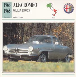 Alfa Romeo Giuilia 1600 SS card, Dutch language, D5 019 02-08