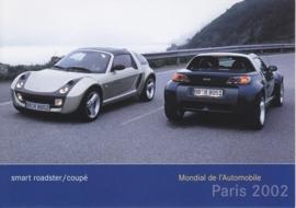 Smart Roadster & Coupé, A6-size postcard, Paris 2002