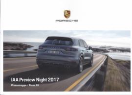 Porsche Press Kit IAA Frankfurt 2017, 52 pages, factory-issued,  German/English